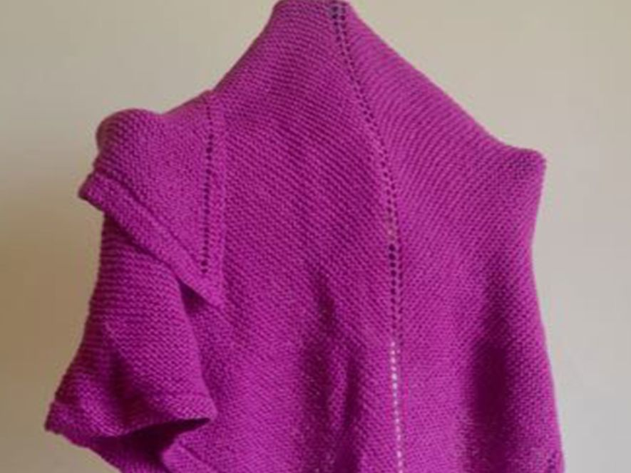 Triangular Shawl..Classic Charm in Bubblegum Pink