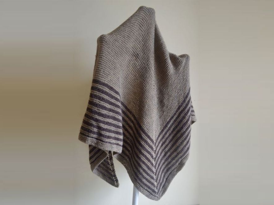 Triangular Shawl..Browns in Coffee and chocolate
