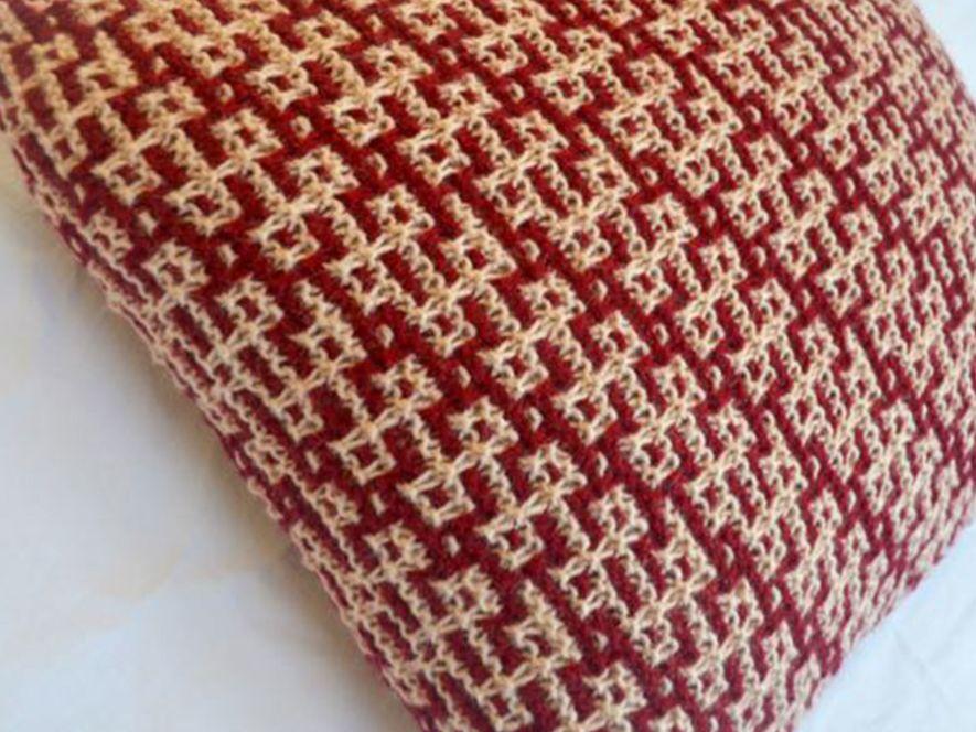 Cushion Cover…Rangoli in Red/Cream