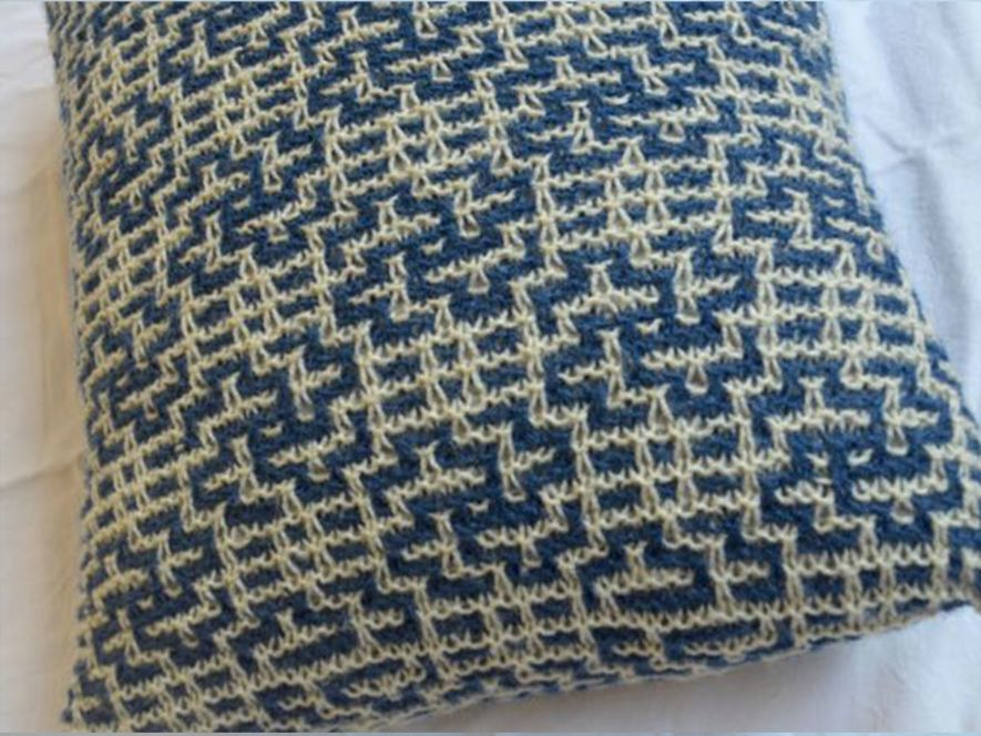 Cushion Cover…Twists and Turns in Indigo/Cream