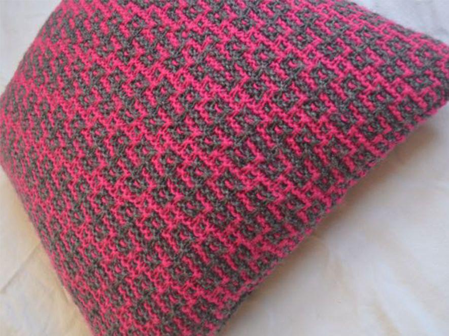 Cushion Cover…Rangoli in Grey/Pink