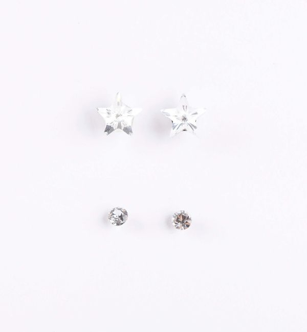 Pack de pendientes ozzy cristal de plata