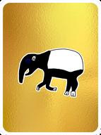 Tasteful Malayan Tapir
