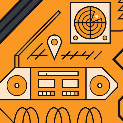 sonar, GPS, radio waves