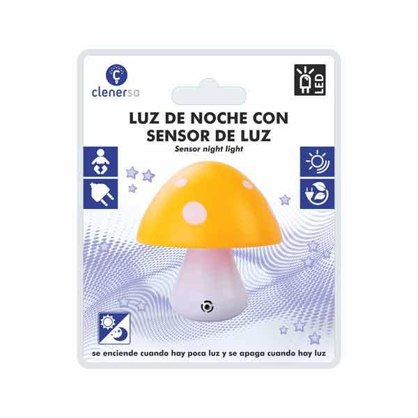 1220 luz de noche sensor seta amarilla presentacion