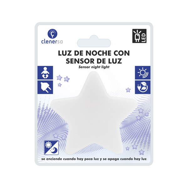 1220 luz de noche sensor estrella presentacion