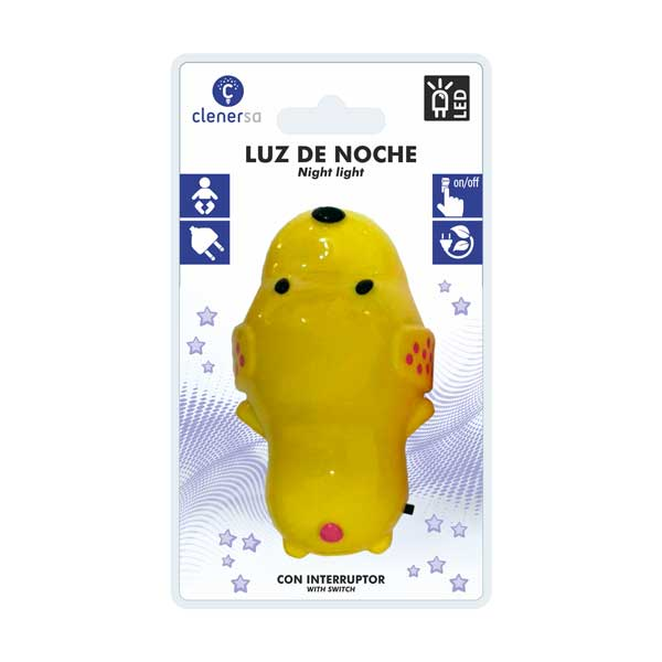 1208 Luz noche infantil perro presentacion