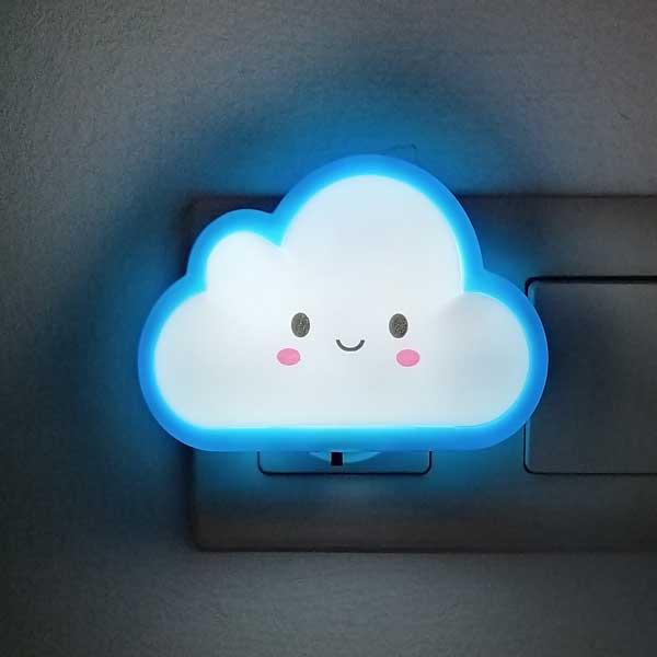 1208 Luz de noche nube azul