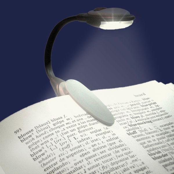 1202 luz led lectura con pinza brazo flexible