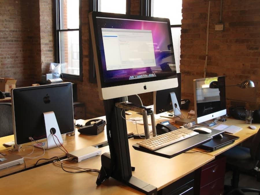 """Convert a 27"""" iMac into a standing desk"""