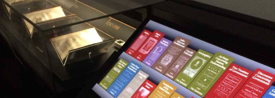 """Observed: exhibit interactive that lets users """"see inside"""" fragile textbooks"""