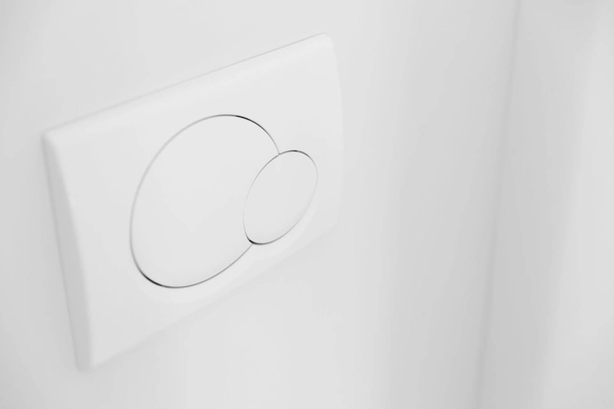Spoelsysteem WC dubbele spoeling stortbakregelaar spaarknop