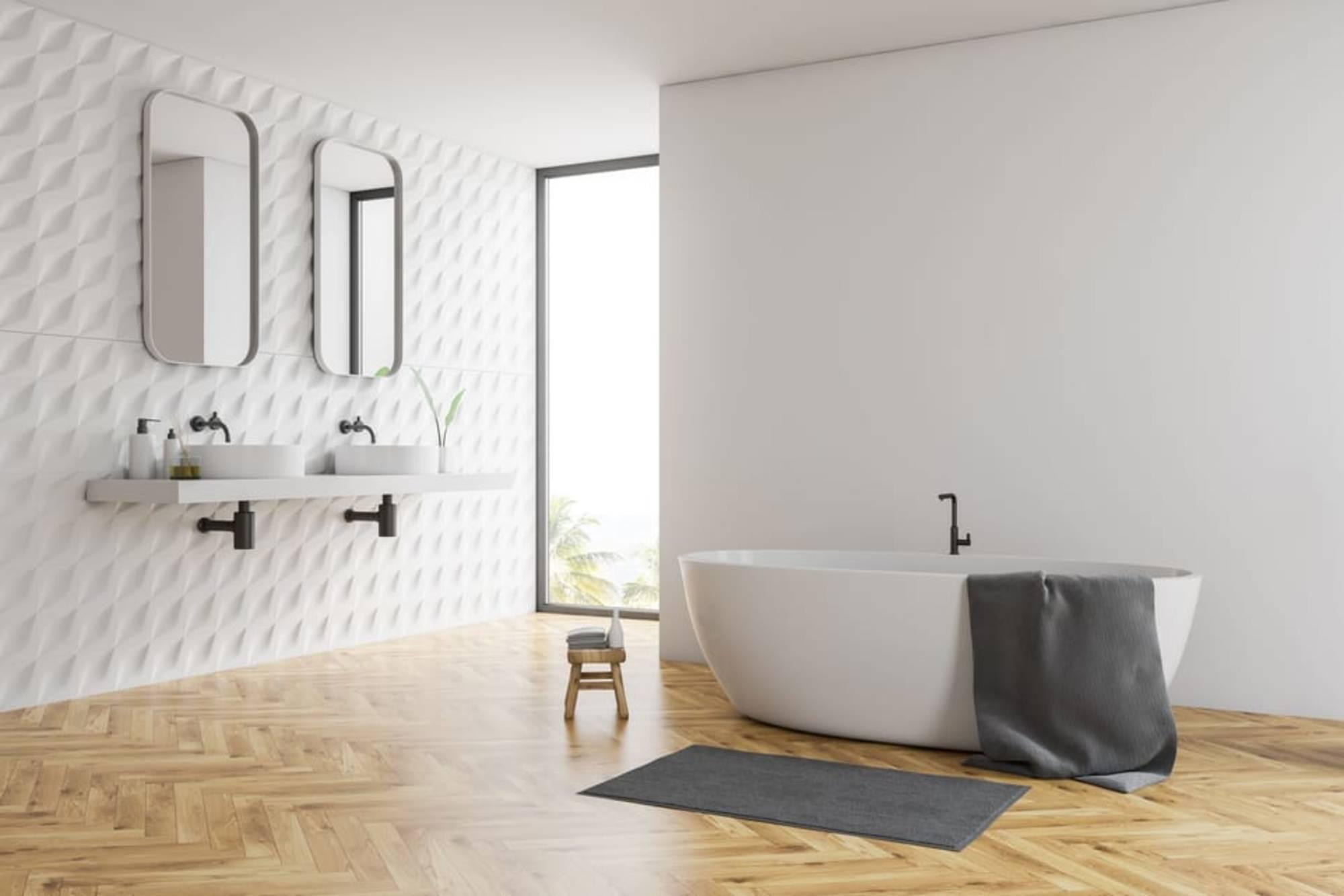 hout kurk vloer badkamer