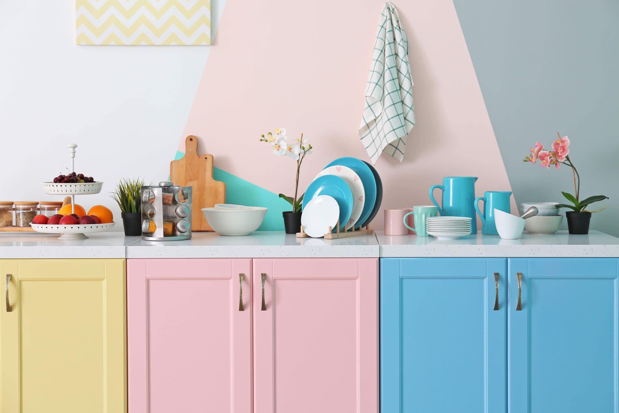 verf keuken schilderen pastel