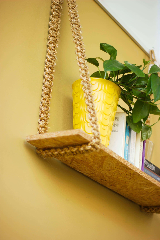 knutselen DIY rotan koord plankje triplex