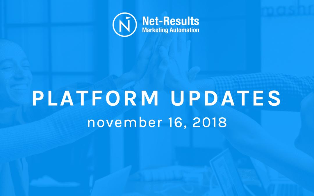Platform Updates – November 16, 2018