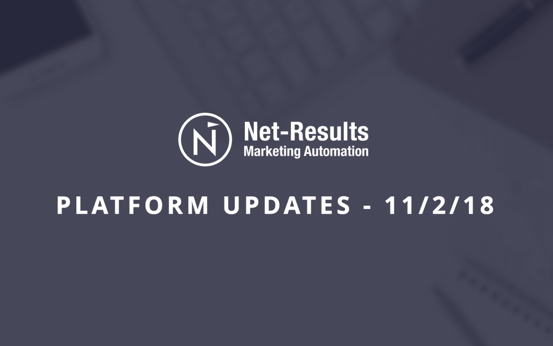 Platform Updates – November 2, 2018