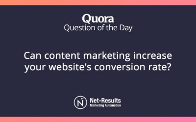 Can content marketing increase your website's conversion rate?