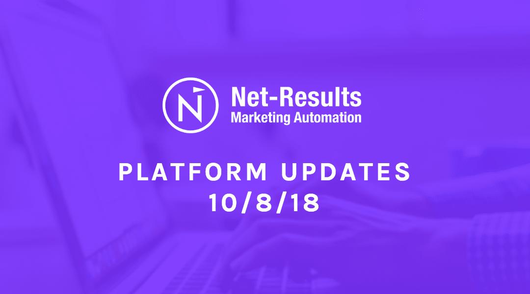 Platform Updates – October 8, 2018