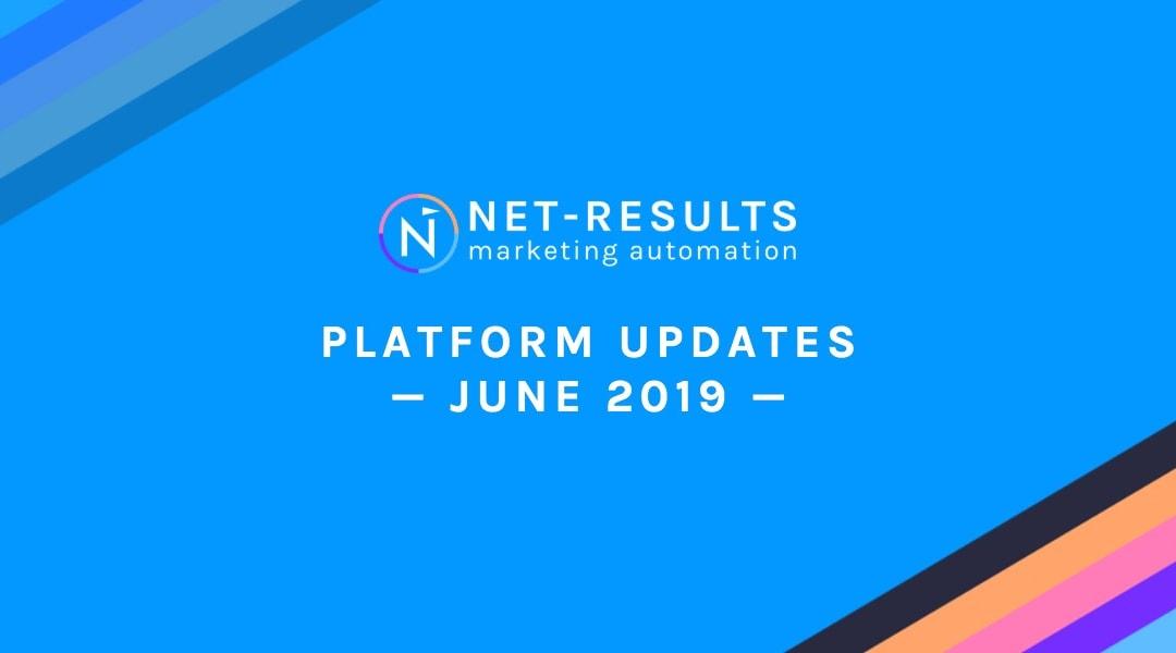 Net-Results Platform Updates – June 28, 2019