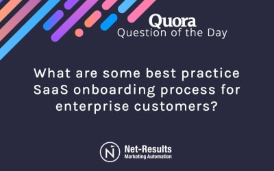 What are some best practice SaaS onboarding processes for enterprise customers?