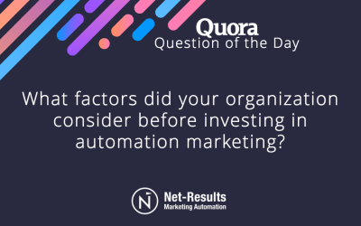 What factors did your organization consider before investing in automation marketing?