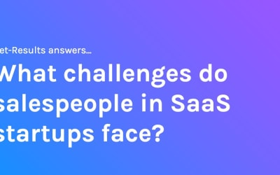 What challenges do salespeople in SaaS startups face?