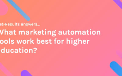 What marketing automation tools work best for higher education?