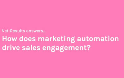 How does marketing automation drive sales engagement?