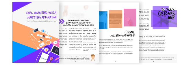 email marketing vs. marketing automation