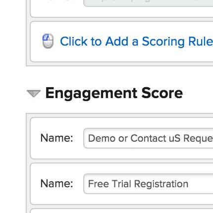 engagement score for lead scoring
