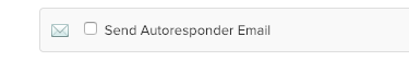 A checkbox for the Form Action to Send Autoresponder Email