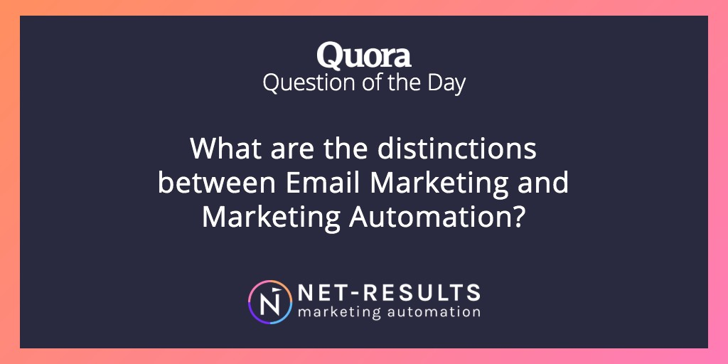 What are the distinctions between Email Marketing and Marketing Automation?
