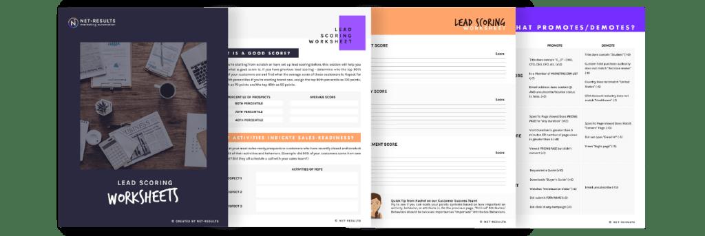B2B Lead Scoring Worksheets