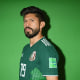 MOSCOW, RUSSIA - JUNE 12: Oribe Peralta of Mexico poses for a portrait during the official FIFA World Cup 2018 portrait session at the team hotel on June 12, 2018 in Moscow, Russia. (Photo by Shaun Botterill - FIFA/FIFA via Getty Images)