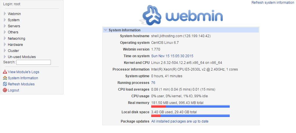 Install Webmin CentOS 6