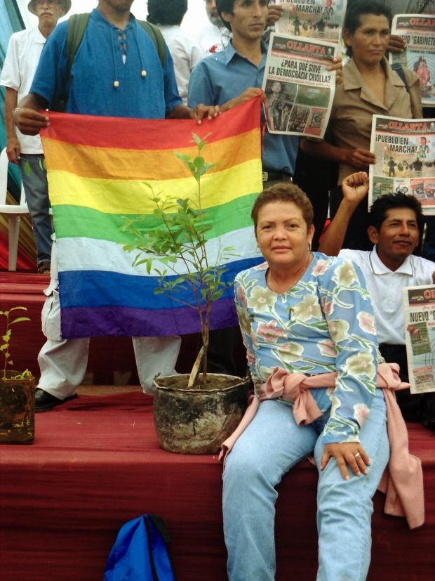 Olmyra Morales, secretaria de la Cooperativa de Pequeños Cultivadores de Coca, Colombia.