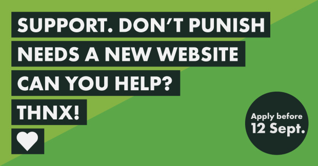 Call for expressions of interest: Support. Don't Punish website redevelopment