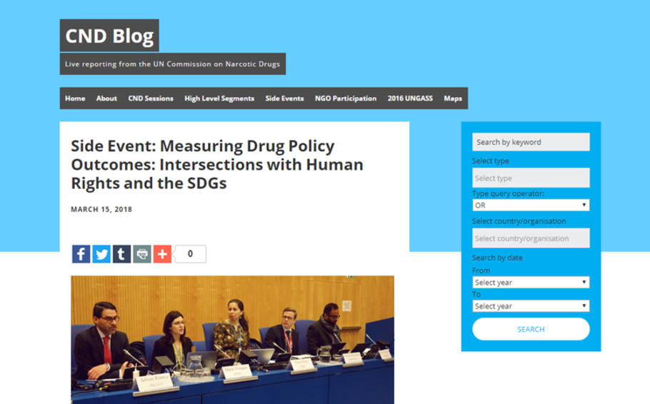 CND Blog – Live reporting from the UN Commission on Narcotic Drugs