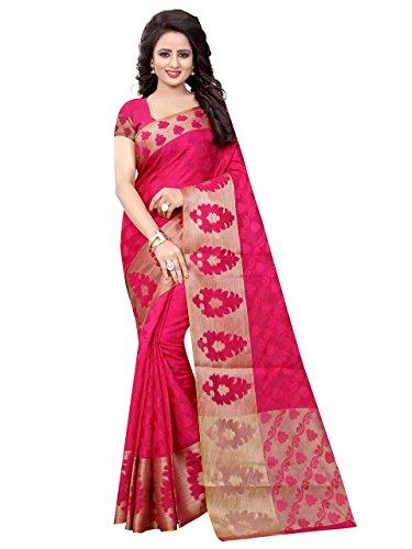 444d49372ee621 Craftsvilla sarees womens Gajari Poly Cotton Jacquard Party   Festival Wear  Saree with Blouse Piece