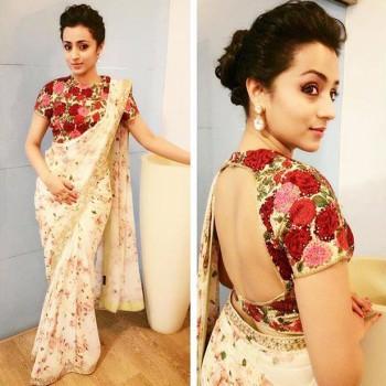 Trisha krishnan saree excellent