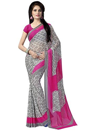 fcc23141e18cb0 Buy Vaamsi Chiffon Saree with Blouse Piece Online