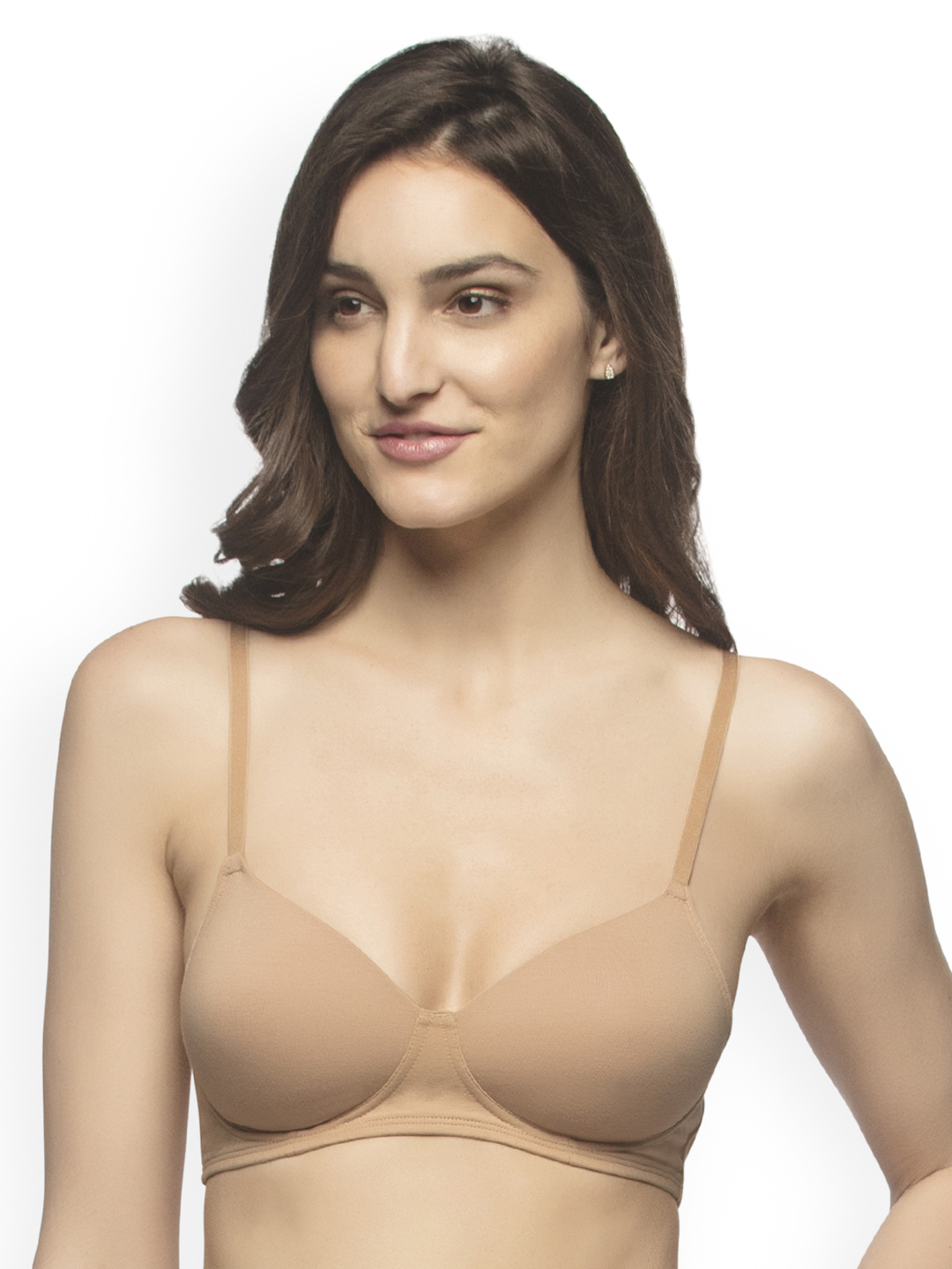 9eb9d394996 Amante Nude-Coloured Solid Non-Wired Lightly Padded T-shirt Bra BRA10216