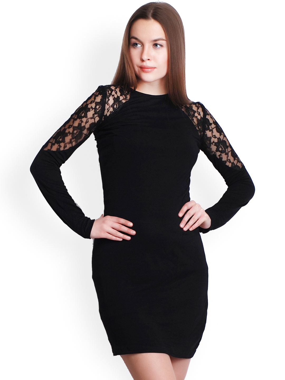 4a24354e542a Buy Belle Fille Black Bodycon Dress Online