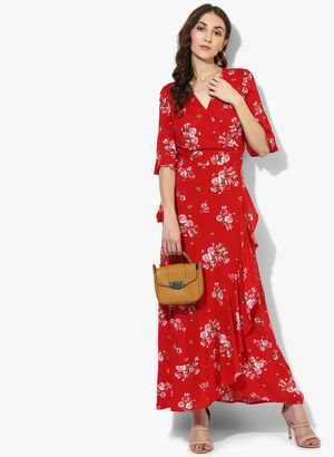442c3f41eea Buy Red Coloured Printed Maxi Dress Online