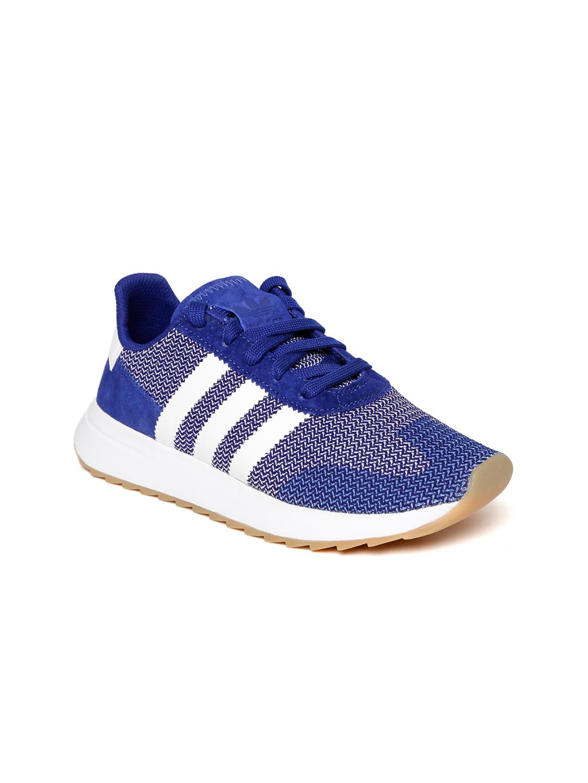 low priced c1401 ff414 Adidas Originals Women Blue FLB Runner Woven Design Sneakers
