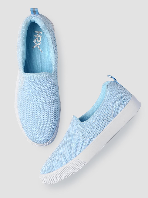 ca5a9480ea9 Buy HRX by Hrithik Roshan Women Blue Slip-On Sneakers Online ...