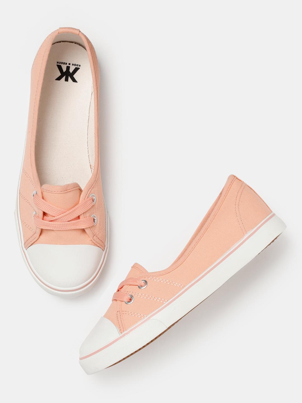 5d7db17af Buy Kook N Keech Women Peach-Coloured Sneakers Online ...