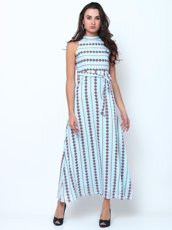 3fe88528e Buy Tokyo Talkies Women Blue   Pink Printed Maxi Dress Online ...