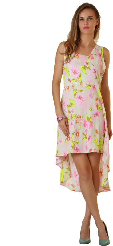 acedc1411 Belle Fille Women s High Low Multicolor Dress Price in India